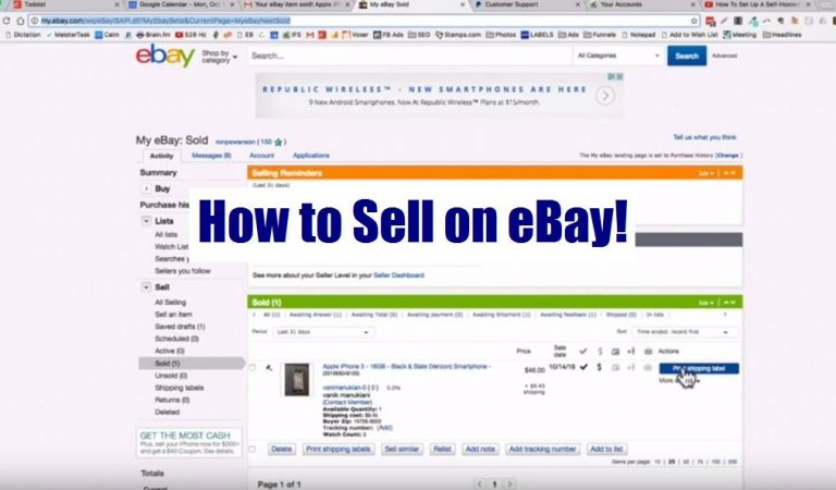 How to sell on eBay 2019