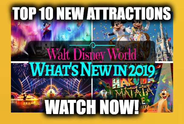 Top 10 New Attractions at Walt Disney World in 2019
